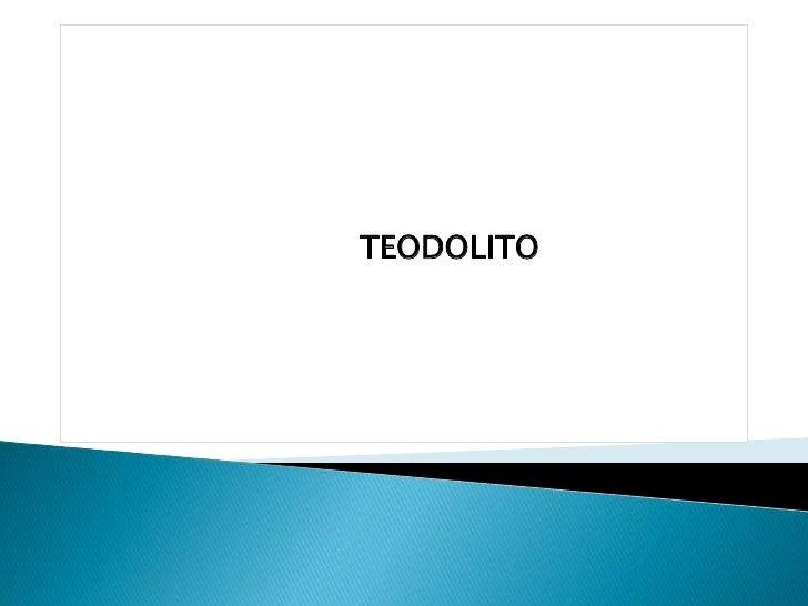 TEODOLITO
