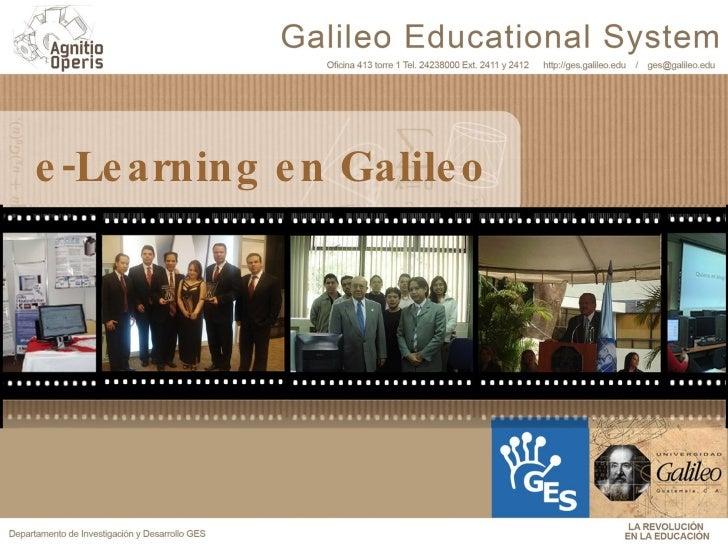 e-Learning en Galileo Demostración de Proyectos
