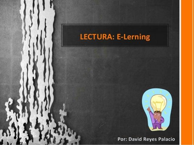 LECTURA: E-Lerning