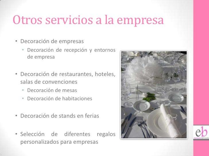 Presentaci n eb eventos con emoci n - Empresas de decoracion ...