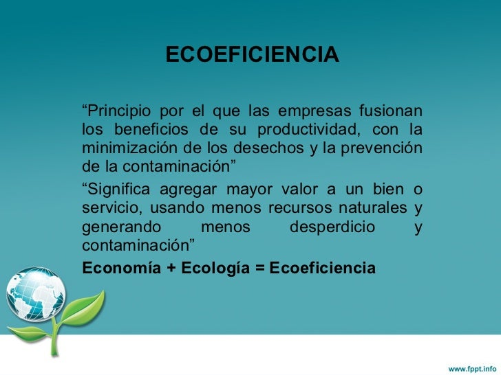 ECOEFICIENCIA Slide 2