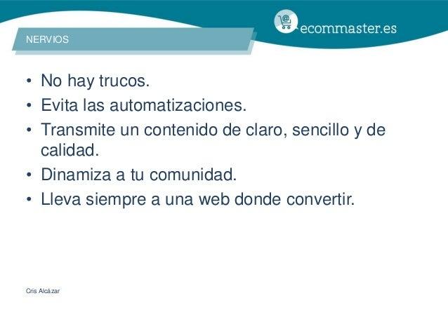 III Congreso Ecommaster - Mujeres Social Commerce al Borde de un Ataque de Nervios Slide 3
