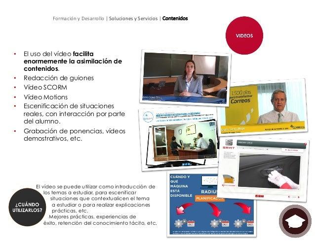 Formación y Desarrollo | Soluciones y Servicios | Contenidos • Teasers y campañas informativas: Formatos publicit...