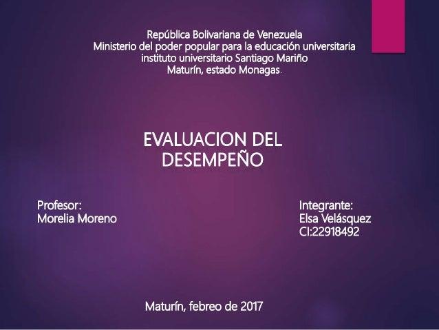 República Bolivariana de Venezuela Ministerio del poder popular para la educación universitaria instituto universitario Sa...
