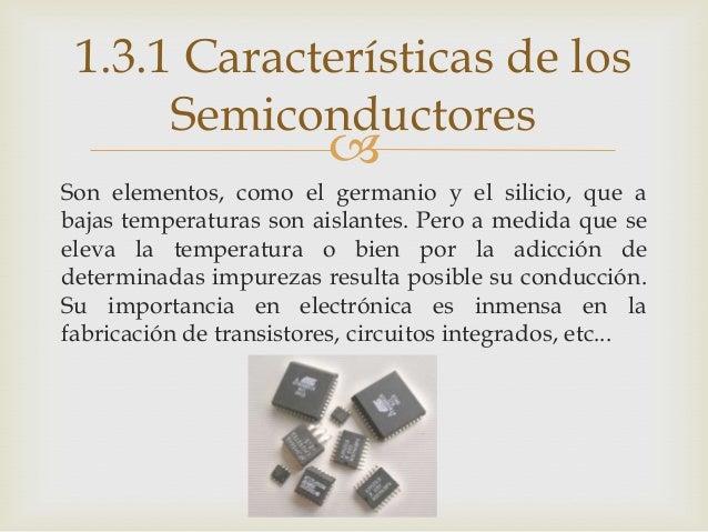 Semiconductores características