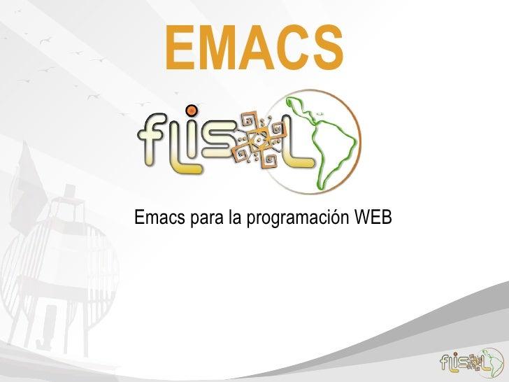 EMACSEmacs para la programación WEB