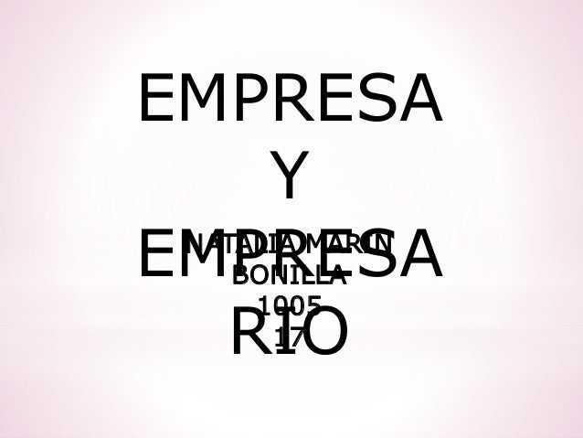 EMPRESA Y EMPRESA RIO NATALIA MARIN BONILLA 1005 17