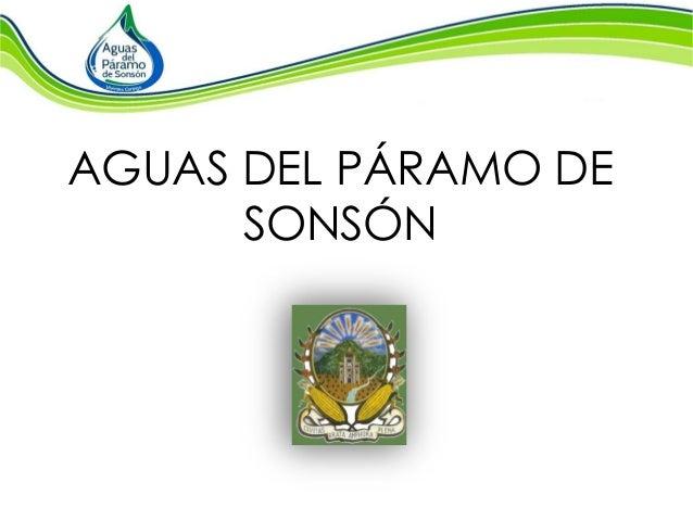 AGUAS DEL PÁRAMO DE SONSÓN