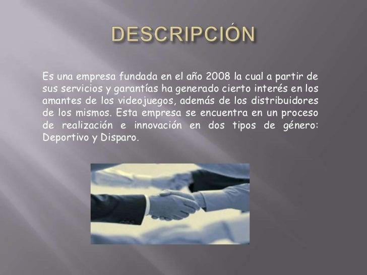 Es una empresa fundada en el año 2008 la cual a partir desus servicios y garantías ha generado cierto interés en losamante...