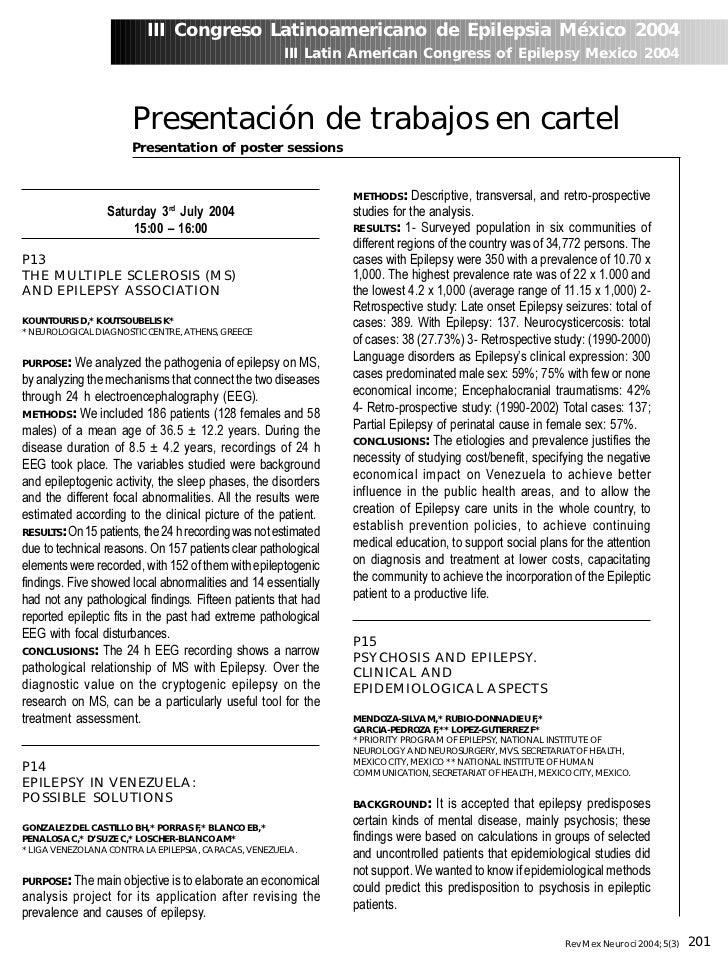 III Congreso Latinoamericano de Epilepsia México 2004                                                       III Latin Amer...