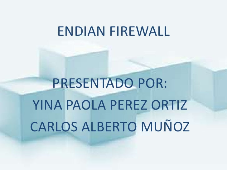 Endian Firewall User manual