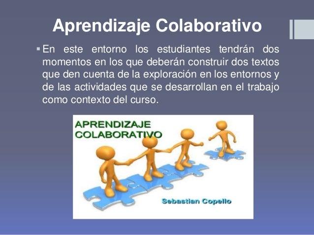 Aprendizaje Colaborativo En este entorno los estudiantes tendrán dos momentos en los que deberán construir dos textos que...
