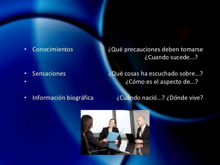 Características y <br />procedimientos<br /> Profundizar.<br />Requiere de un vínculo estrecho entre el sujeto investigado...
