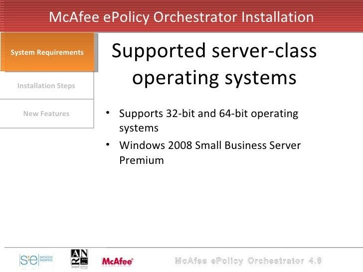 ePolicy Orchestrator v4 6