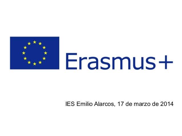 IES Emilio Alarcos, 17 de marzo de 2014