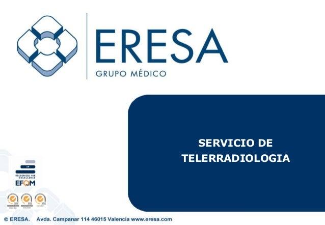 SERVICIO DE TELERRADIOLOGIA