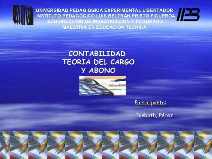 UNIVERSIDAD PEDAG   ÓGICA EXPERIMENTAL LIBERTADOR  INSTITUTO PEDAGÓGICO LUIS BELTRÁN PRIETO FIGUEROA SUBDIRECCION DE INVES...