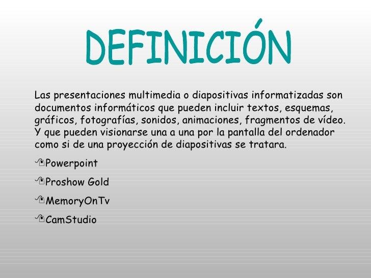 Presentaciones interactivas - Definicion de multimedia ...
