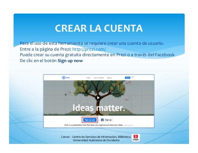 Censei - Centro de Servicios de Información, Biblioteca Universidad Autónoma de Occidente Para el uso de esta herramienta ...