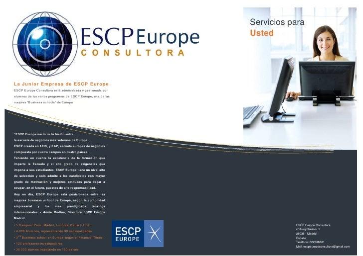 Servicios para                                                                 Usted     La Juni or Empresa de ESCP Europe...
