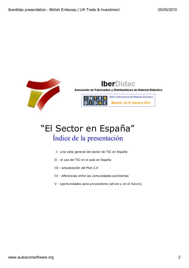 """Presentation in the British Embassy in Madrid - Threats and opportunities in the governmental program """"Escuela 2.0"""" Slide 2"""