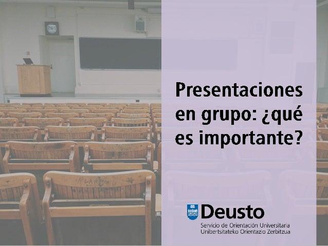 Presentaciones en grupo: ¿qué es importante?