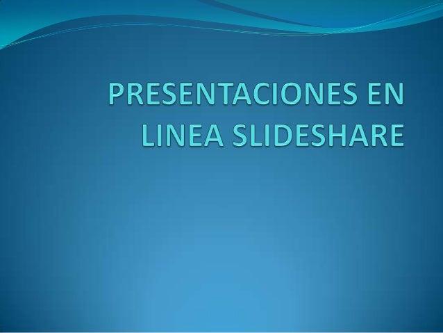  Es un servicio de alojamiento y publicación en línea de presentaciones realizadas con herramientas como PowerPoint u Ope...