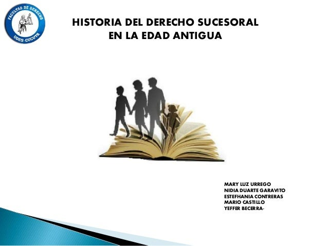 HISTORIA DEL DERECHO SUCESORAL EN LA EDAD ANTIGUA MARY LUZ URREGO NIDIA DUARTE GARAVITO ESTEFHANIA CONTRERAS MARIO CASTILL...