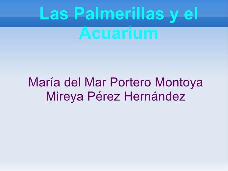 Las Palmerillas y el Acuarium <ul><li>María del Mar Portero Montoya