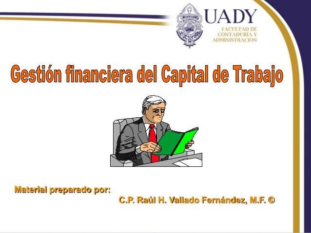 Material preparado por: C.P. Raúl H. Vallado Fernández, M.F. © RHVF.