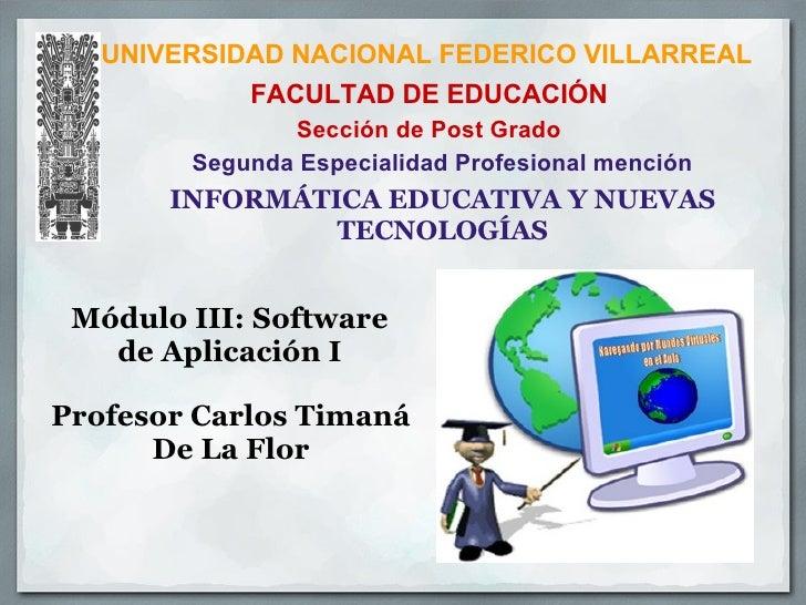UNIVERSIDAD NACIONAL FEDERICO VILLARREAL             FACULTAD DE EDUCACIÓN                Sección de Post Grado         Se...