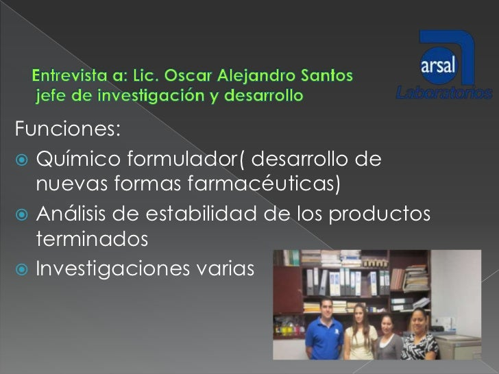 CAMPO DE TRABAJO DEL QUIMICO FARMACEUTICO