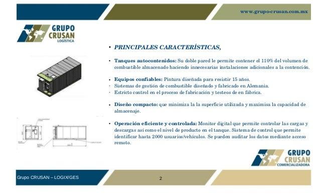 ESTACIONES MÓVILES DE COMBUSTIBLE Y TANQUES PARA ALMACENAJE ESTÁTICO DE GASOLINA, DIESEL Y TURBOSINA Slide 2