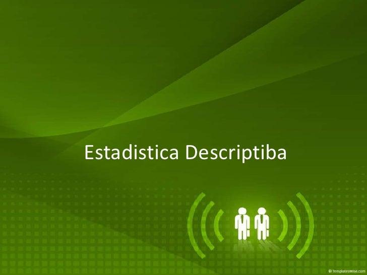 EstadisticaDescriptiba<br />