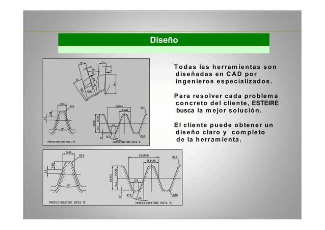Diseño T o d as las h erram ien ta s s o n diseñadas en C AD por ingenieros especializados. P ara reso lver cada problem a...