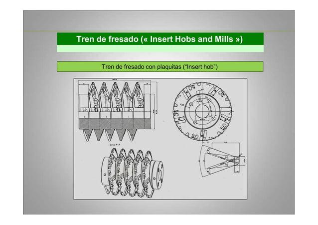 """Tren de fresado (« Insert Hobs and Mills ») Tren de fresado con plaquitas (""""Insert hob"""")"""