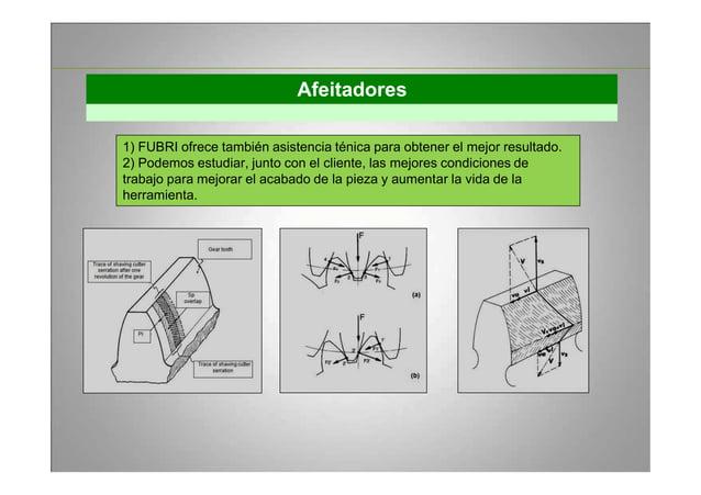 Afeitadores 1) FUBRI ofrece también asistencia ténica para obtener el mejor resultado. 2) Podemos estudiar, junto con el c...