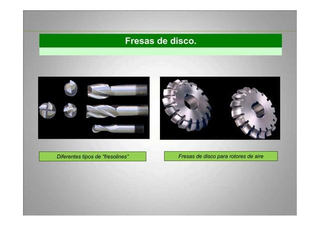 """Fresas de disco. Diferentes tipos de """"fresolines"""" Fresas de disco para rotores de aire"""