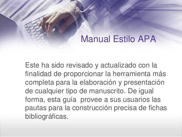 Presentacion estilo apa 6ta edicion Slide 3