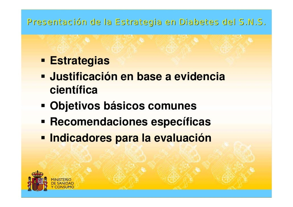 Presentación de la Estrategia en Diabetes del Sistema