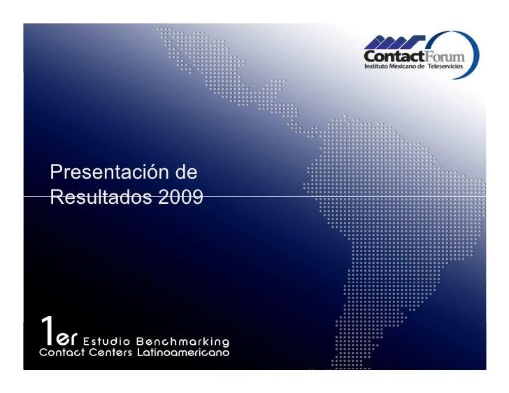 Presentación de Resultados 2009