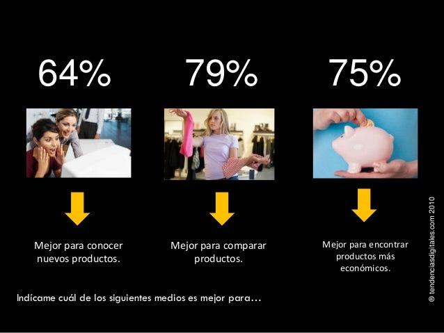 ®tendenciasdigitales.com2010 Mejor para encontrar productos más económicos. Indícame cuál de los siguientes medios es mejo...