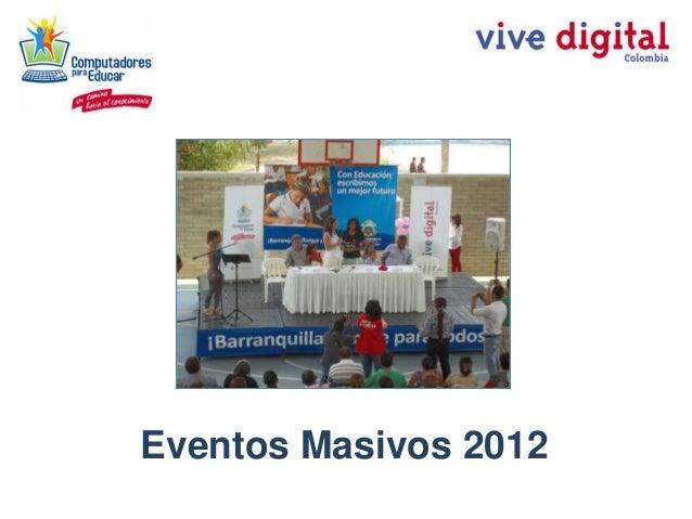 Eventos Masivos 2012