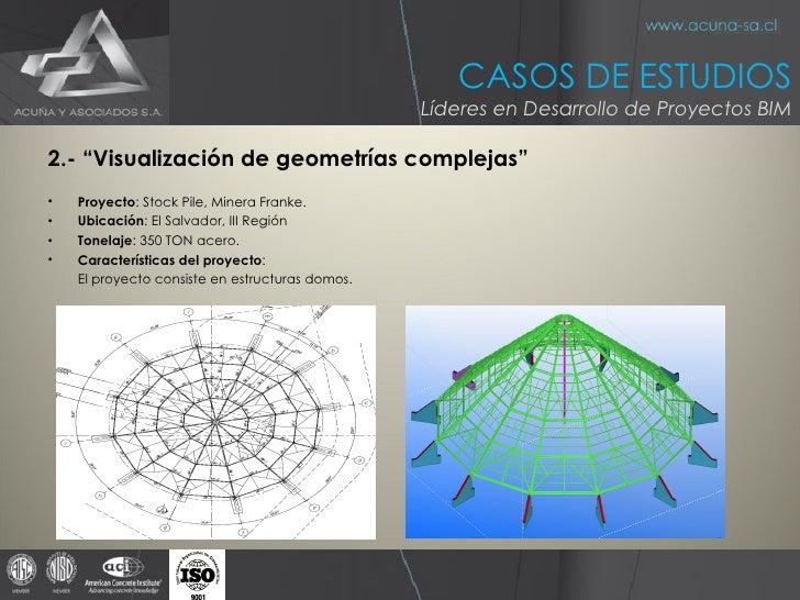 "<ul><li>2.- ""Visualización de geometrías complejas"" </li></ul><ul><li>Proyecto : Stock Pile, Minera Franke. </li></ul><ul>..."