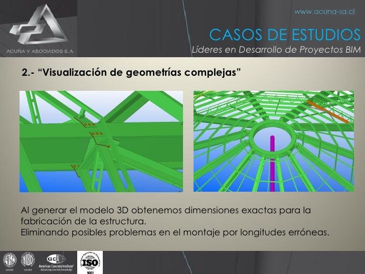 """<ul><li>2.- """"Visualización de geometrías complejas"""" </li></ul>Al generar el modelo 3D obtenemos dimensiones exactas para l..."""