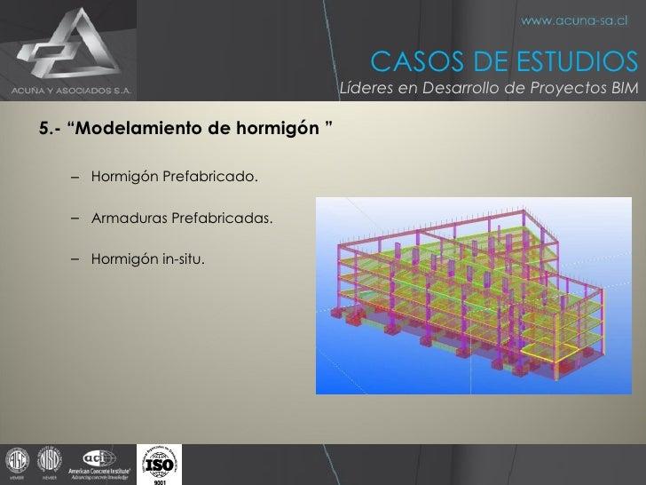 """<ul><li>5.- """"Modelamiento de hormigón """" </li></ul><ul><ul><li>Hormigón Prefabricado. </li></ul></ul><ul><ul><li>Armaduras ..."""