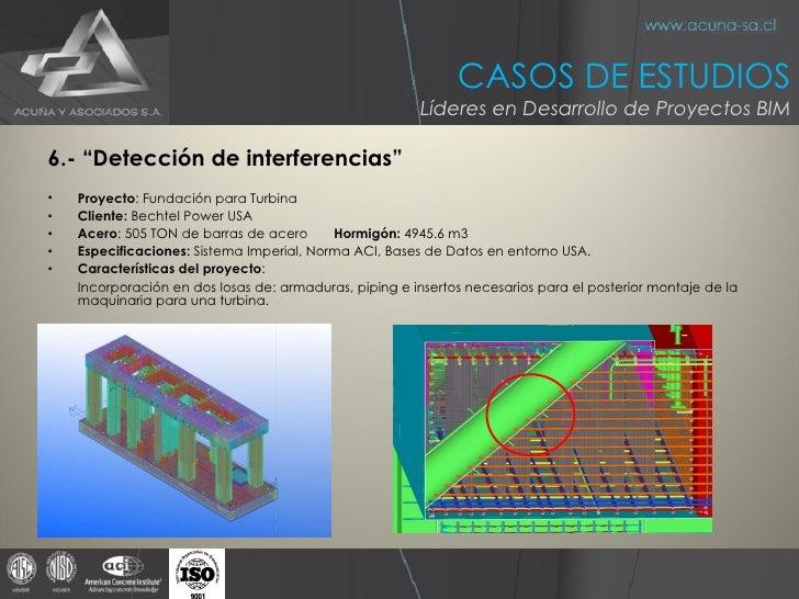 """<ul><li>6.- """"Detección de interferencias"""" </li></ul><ul><li>Proyecto :  Fundación para Turbina </li></ul><ul><li>Cliente: ..."""