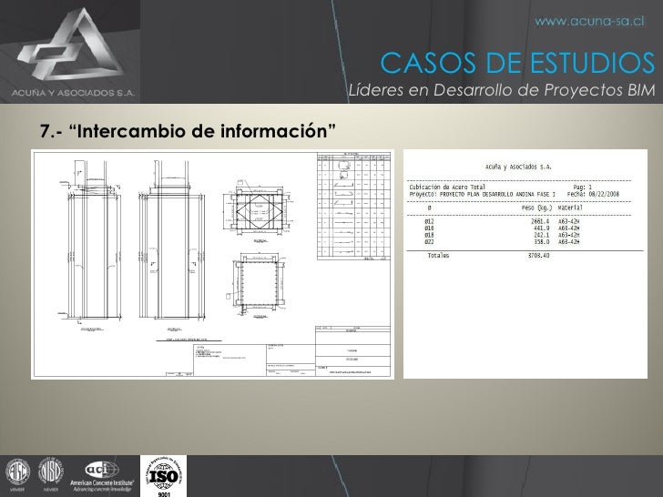 """<ul><li>7.- """"Intercambio de información"""" </li></ul>CASOS DE ESTUDIOS Líderes en Desarrollo de Proyectos BIM"""