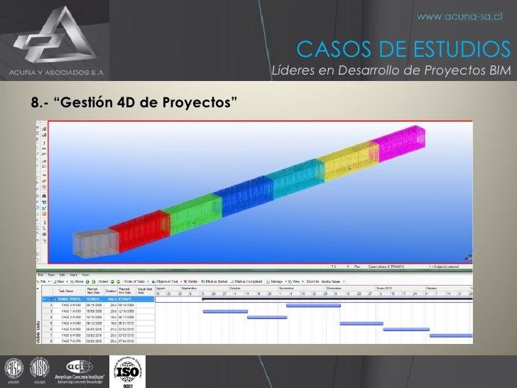 """<ul><li>8.- """"Gestión 4D de Proyectos"""" </li></ul>CASOS DE ESTUDIOS Líderes en Desarrollo de Proyectos BIM"""