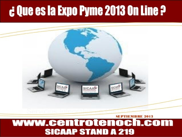 Programas de Apoyo a Pymes 2013 SEPTIEMBRE 2013